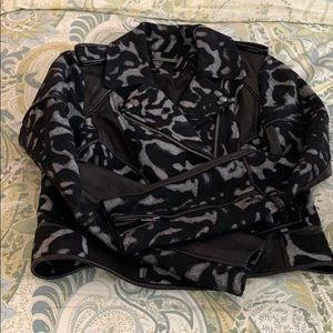 DVF leather jacket size 2/s